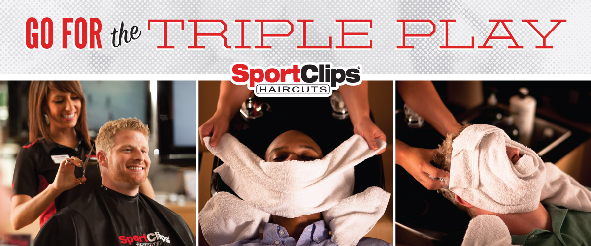 The Sport Clips Haircuts of Mechanicsburg  Triple Play